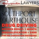 Gold Coast Drug Driving Offence at Southport Magistrates Court Qld